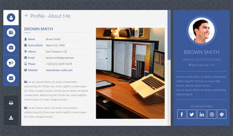 Personal Website Templates Cyberuse Personal Website Html Template