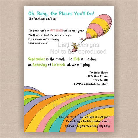 Oh The Places You Ll Go Baby Shower Invitations by Poems For For The You Like For Him For