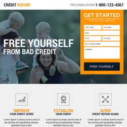 Credit Repair Landing Page Template Credit Repair Landing Page Design Template To Boost Your Credit Repair Business