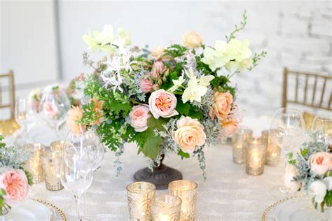 Floral Verde LLC Peach Garden Roses and Phalaenopsis Orchids