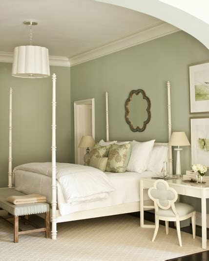 pale green bedroom white greek key nightstand transitional bedroom