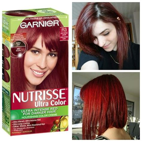 color results garnier ultra color r3 for hair results tips