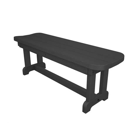 backless park bench park 48 inches recycled plastic backless outdoor bench ebay