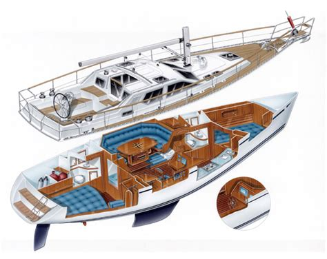 Traditional Floor Plans by Pilothouse Sailing Yachts