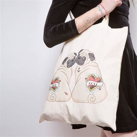 pug bags to buy pug tote bag by pugyeah notonthehighstreet