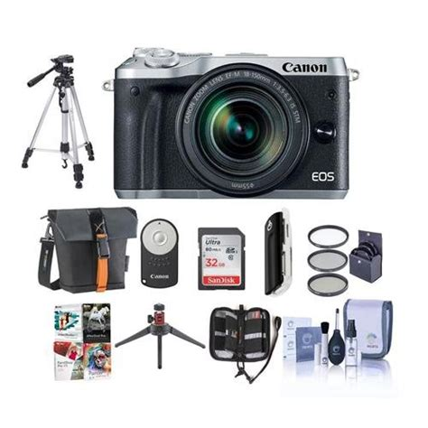 Canon Eos M6 Ef M 18 150mm Silver canon eos m6 mirrorless digital silver with ef m 18