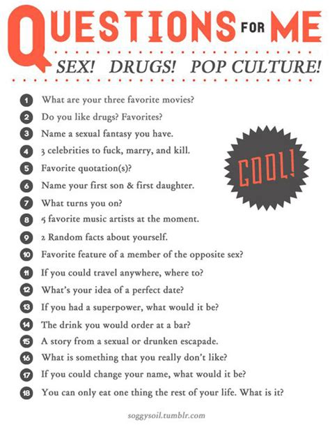 sexual questions to ask people