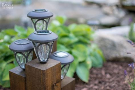 Diy Cedar Cube Solar Landscape Lights The Navage Patch How To Make Lights Work Again