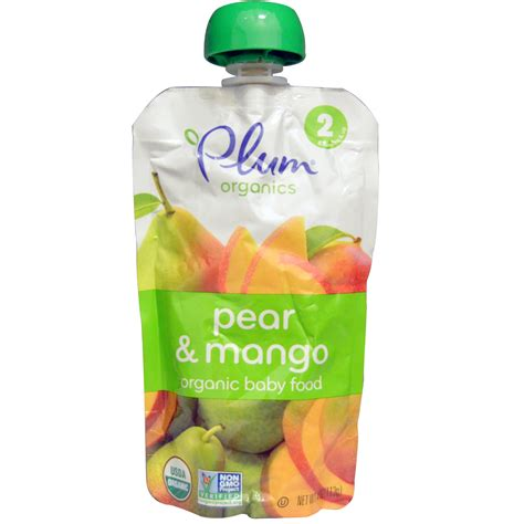 Plum Baby Organic Superfoods by Plum Organics Organic Baby Food Stage 2 Pear Mango 4