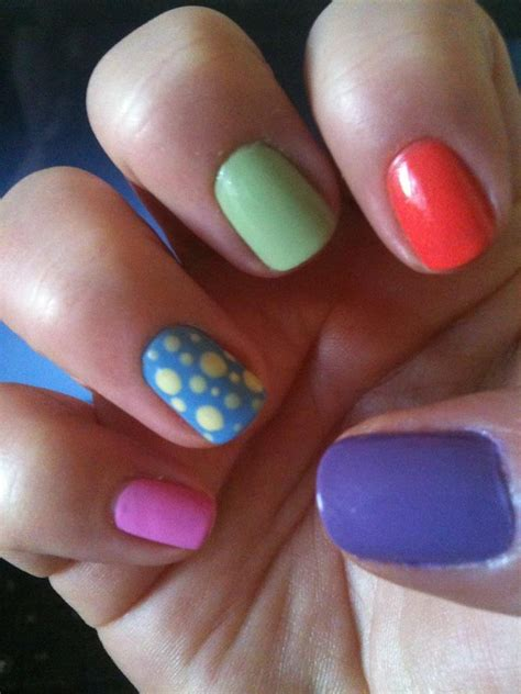 multi colored nails 29 best my nail designs images on nail