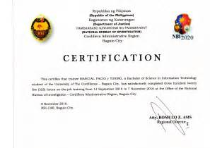 certificate of completion ojt template sle certificate of employment for on the