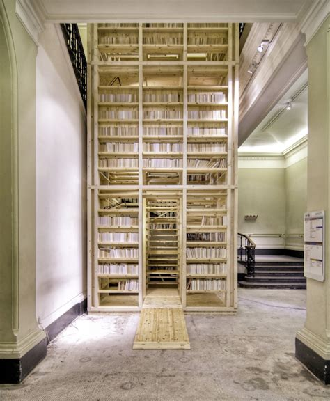 ark bookshelf gallery of 1 1 architects build small spaces exhibition by