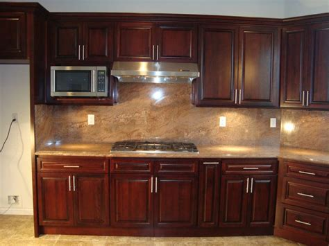 kitchen backsplash cherry cabinets cherry oak kitchen cabinet and kitchen island brown