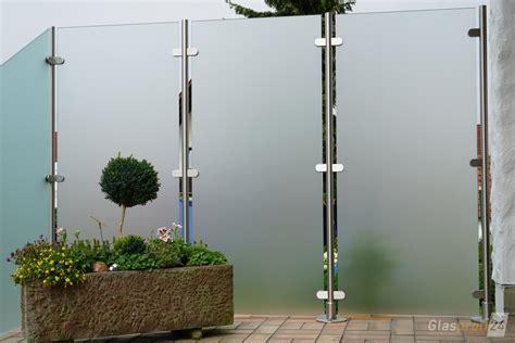 glas sichtschutz terrasse glaszaun transvent als sichtschutz im garten glasprofi24
