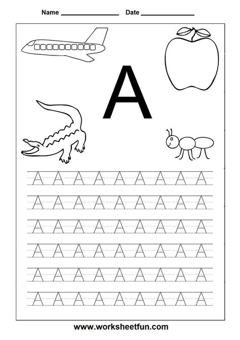 printable letter tracing pages 6 best images of preschool printables letters a z