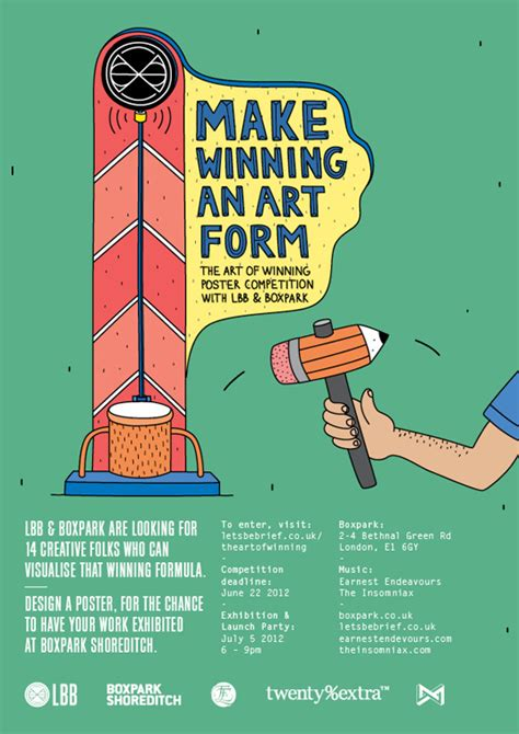 poster design competition uk the art of winning poster competition with lbb boxpark