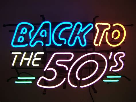 50s Home Decor by Back To The Fifties Retro Neon Sign Lawton Imports