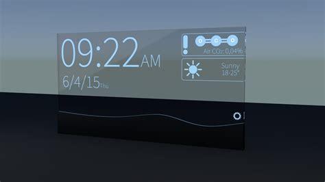 futuristic clock 3d model futuristic alarm clock