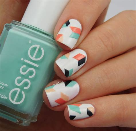 geometric pattern nails 17 best images about nail art designs on pinterest nail