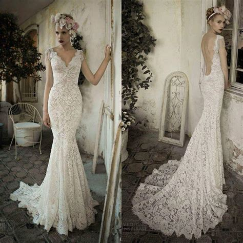 ivory open back wedding dress custom size 2 4 6