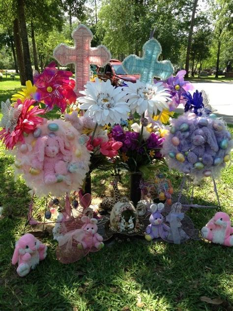 easter cemetery decorations grave decoration ideas