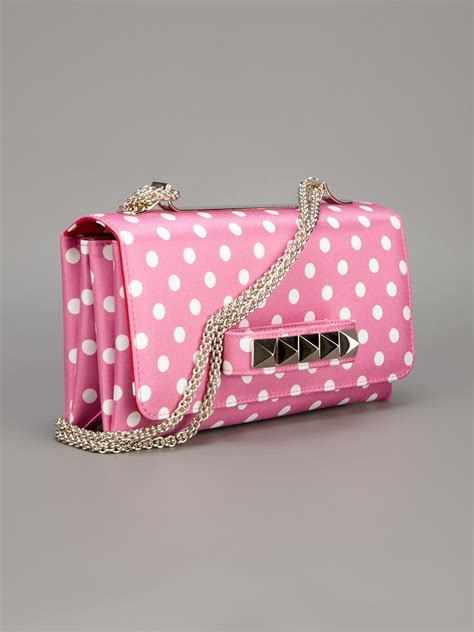 Valentino Polka Dot Clutch by Valentino Polka Dot Shoulder Bag In Pink Lyst