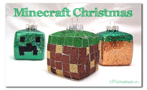 easy diy minecraft christmas ornaments