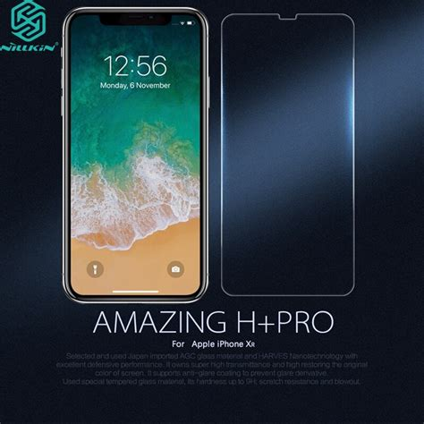 nillkin h pro 0 2mm ultra thin 9h 2 5d tempered glass for apple iphone xr 6 1 quot screen protector
