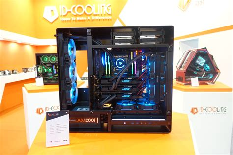 Id Cooling Se 214l W Cpu Cooler White Led id cooling shows air and liquid cooling solutions