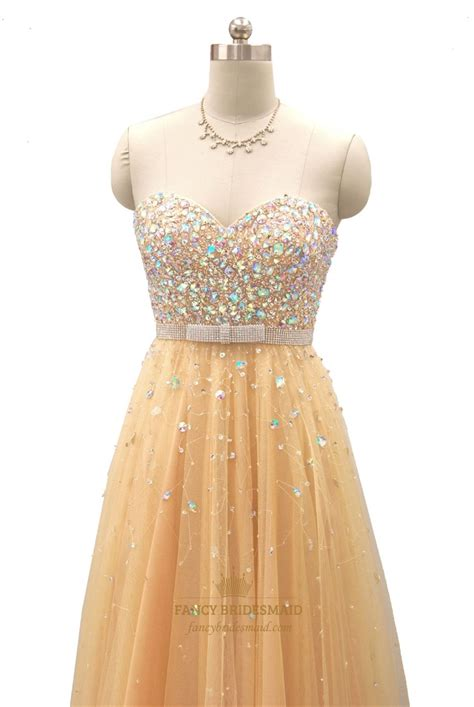 beaded bodice prom dress chagne beaded bodice sweetheart neckline strapless