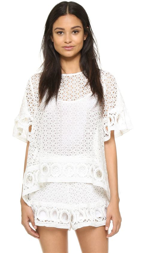 Katarina Blouse By Factory Store factory lace blouse in white lyst