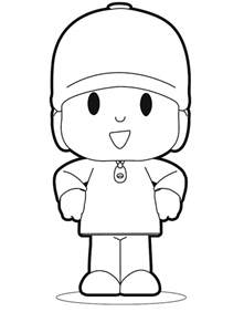 free printable pocoyo coloring pages for