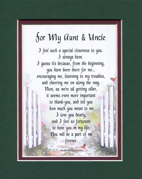 aunt uncle  family members genies poems uncle poems uncle birthday quotes