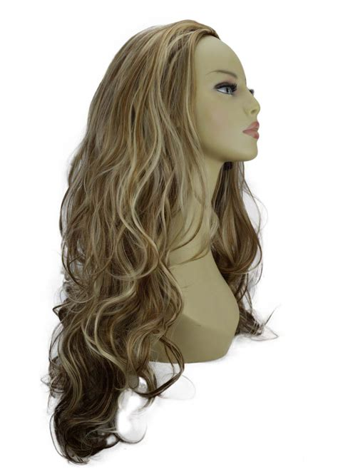 Wig Hair Clip 22 quot 3 4 wig clip in hair ash brown mix