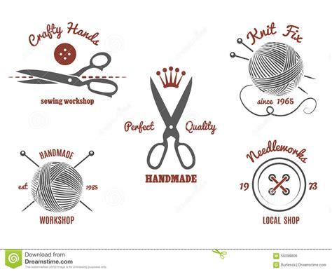 Handmade Logos - handmade logos stock vector image 56098806