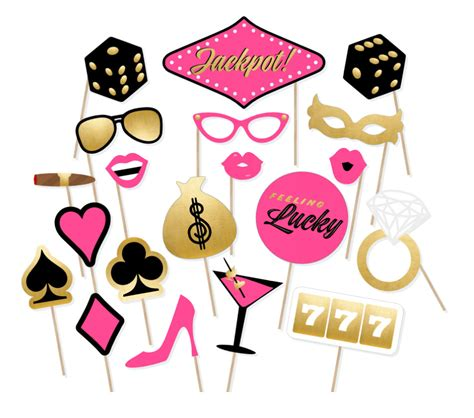 hens night photo booth props printable printable casino photo booth props ladies vegas weekend