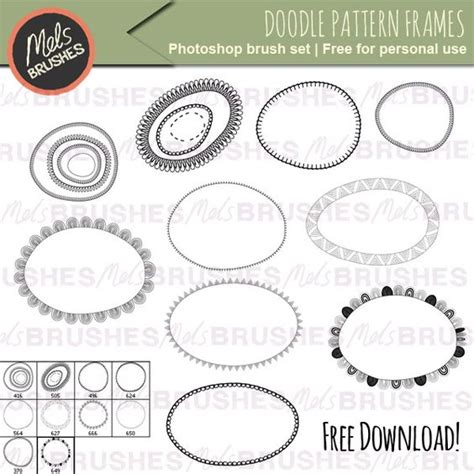 Doodle Patterns For Photoshop | doodle frames free photoshop brushes get them here http