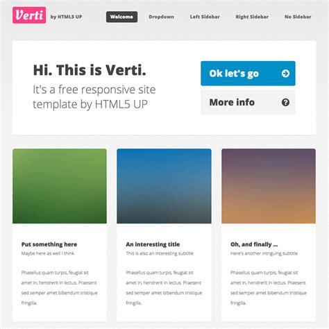 Verti Responsive Website Template Responsive Static Website Templates