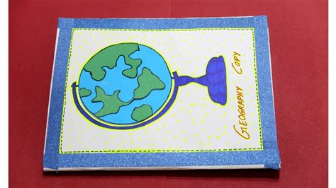 geography file social science notebook cover diy