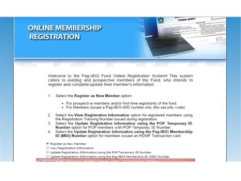 pag ibig online registration this is how to get your pag ibig member s id mid number