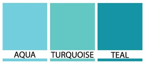 the color teal blue aqua vs turquoise vs teal color turquoise