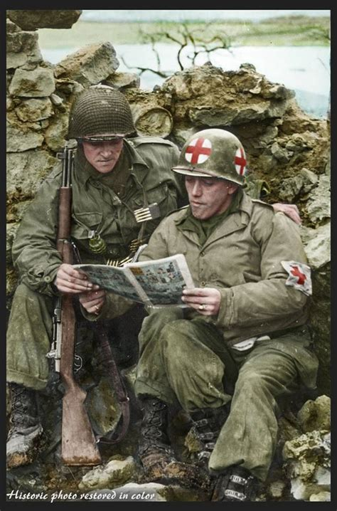 World War Ii A Historical Reader Colorized Wwii Photos Make Allied Troops Come To