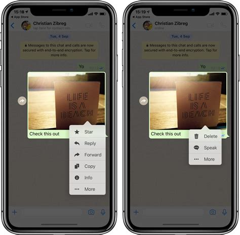 whatsapp gains iphone xs max support consecutive voice
