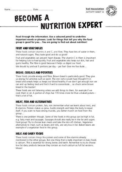 Nutrition Worksheets For High School by Nutrition Worksheet Free Worksheets Library And