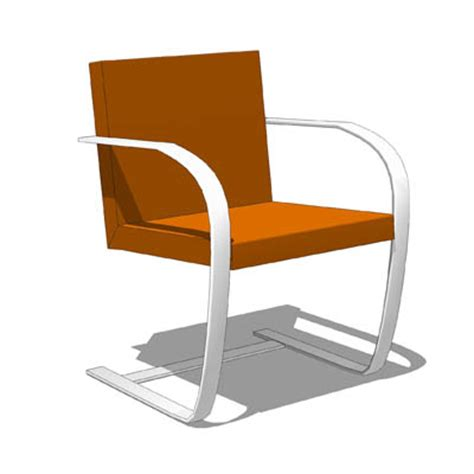 iconic chairs of 20th century brno chair 3d model formfonts 3d models textures