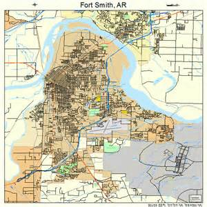 fort map fort smith arkansas map 0524550