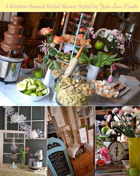 kitchen bridal shower ideas fab feature a kitchen themed bridal shower by julie events themed bridal showers table