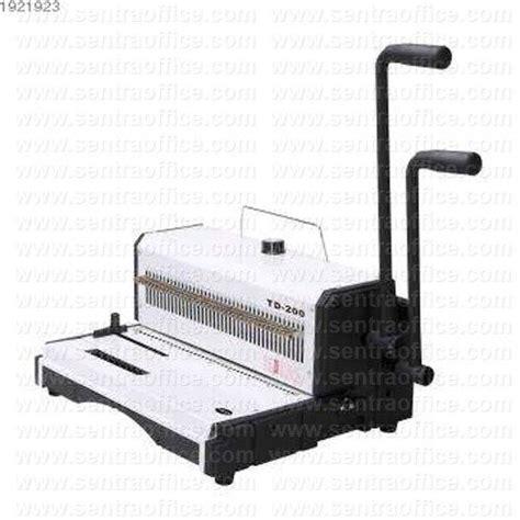 Mesin Jilid Kawat Topas Td 200 jual mesin binding jilid topas type td 200 murah sentra office