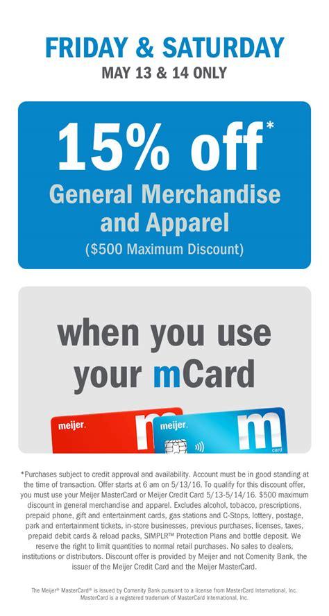 meijer credit card meijer meijer com