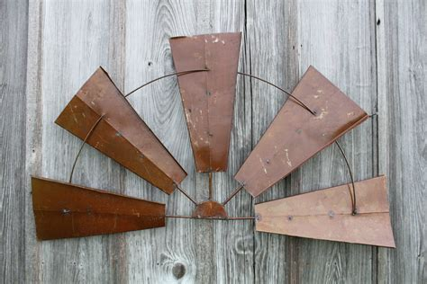 28 quot large rustic metal half windmill country farm wall